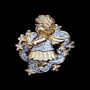 SALE Craft or Gem Craft-Angel Pin-Floating On Stars-Adorable Details