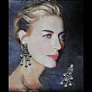 Vintage Diamentes Dangles-Chandelier Clip Earrings-Evening Fireworks!
