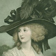 SALE Trio of English Regency Fashion 'Ladies in a Fine Hat' Postcards