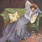 English Edwardian Artist Signed Tuck's Postcard.