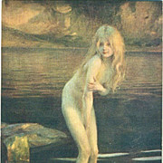 Early French Issue Museum  Signed Postcard 'In the Twilight'
