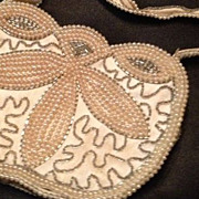 Art Deco Bead and Faux Pearl Evening Bag.