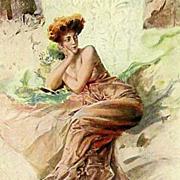 Bohemian Signed Edwardian 'Model' Postcard c1908