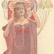 French Theatre Advertising Postcard Madam Sorel c1900.