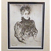 SALE Toulouse-Lautrec Signed 'May Milton' Engraving 1920.