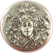 French 'Girl with Poppies in her Hair' Medallion.