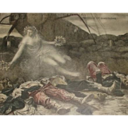 SALE Limited Ed. Numbered Signed French Lithograph by Flameng 'Hommage Aux Heros' 1915.