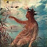 Antique Polish Artist 'Nymph' Goplana Postcard