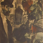 Edgar Degas  Limited Edition 332/500 French Monotype Etching 'Famille Cardinale Series' 1948