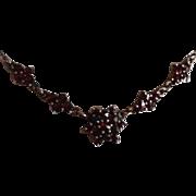 SALE Edwardian Garnet Necklace c1905.