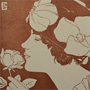 Signed Wood Engraving 'The Rose' from Studio Magazine 1916