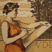 Original Signed Art Nouveau French Lithograph 'VDBKiB' 1897
