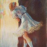 Antique French Magazine Print ''L'Oeil en Coulisses' c1910