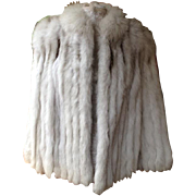 Gorgeous Natural Finland Blue Fox Fur Jacket