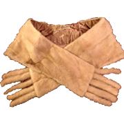 Vintage Cornelius Pastel Honey Blond Natural Mink Stole/Wrap with detachable Tails.