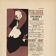 SALE Original Antique French Lithograph 'Publisher' by Beardsley 1897