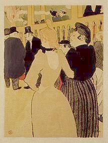 Rare Toulouse-Lautrec Small Format Lithograph. 'La Goulue & Her Sister' c1932