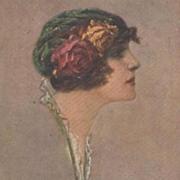 Corbella Beautiful Woman Postcard 1916 Signed.
