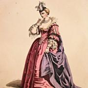 SALE Antique Signed  French Theatrical Engraving 'Les Amants Magnifique' c1850