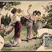 SALE French Art Nouveau UB Vienne Postcard 1905.