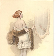Early Art Deco Saucy Austrian M Munk Vienne Artist Signed Postcard.