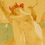 SALE Rare Antique French Lithograph 1897 L'Estampe Moderne.