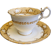 REDUCED Coalport neo-Rococo Coffee Cup and Saucer: Pattern 4/708