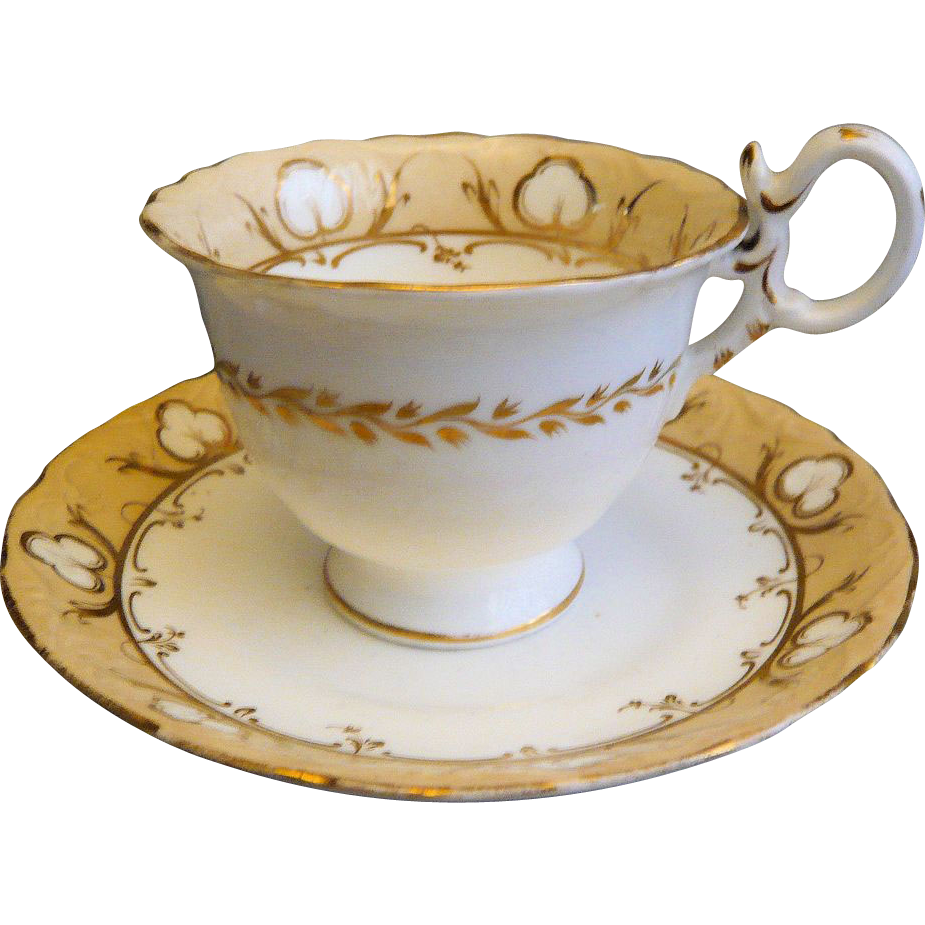 Transparent Coffee Table Uk: Coalport Neo-Rococo Coffee Cup And Saucer: Pattern 4/708