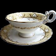 SALE Coalport neo-Rococo Tea Cup and Saucer: Pattern 4/708