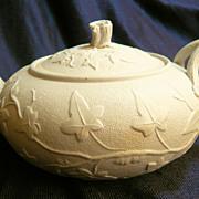 Thomas Till & Son ivy patterned teapot, 1850-61