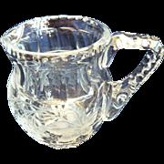 SALE Very Heavy Early Nineteenth Century Cut Glass Jug