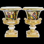 Pair of Sevres Porcelain Urns