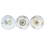 A set of 3 French Plates from the East of France