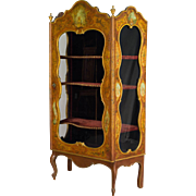 19th c. Venetian Painted Vitrine or Display Cabinet