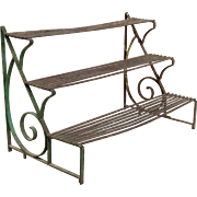 19th c. French Wrought Iron Plant Stand
