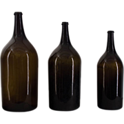 A set of three French 19th c. Hand Blown Bottles