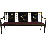 Set of Lacquered Sofa and Pair of Armchairs in a Japanese Style