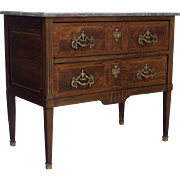 19th c. Louis XVI Style Commode or Chest of Drawers