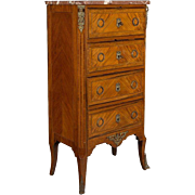 A Louis XVI Style Chiffonier or Chest of Drawers