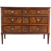 18th Century Louis XVI Inlay Commode or Chest of Drawers