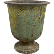 Early 19th Century French Cast Iron Urn