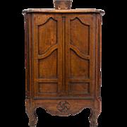 19th c. French Rare Armoire Form Fariniere