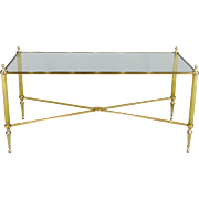 French Brass Cocktail or Coffee Table