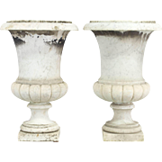 Pair of 19th Century French Marble Urns