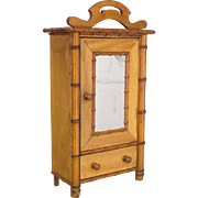19th c. French Miniature Armoire