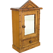 Miniature French Faux Bamboo Armoire