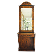 19th Century Biedermeier Console and Mirror