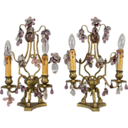 19th c.French pair of  Girandoles or Table Lamps.