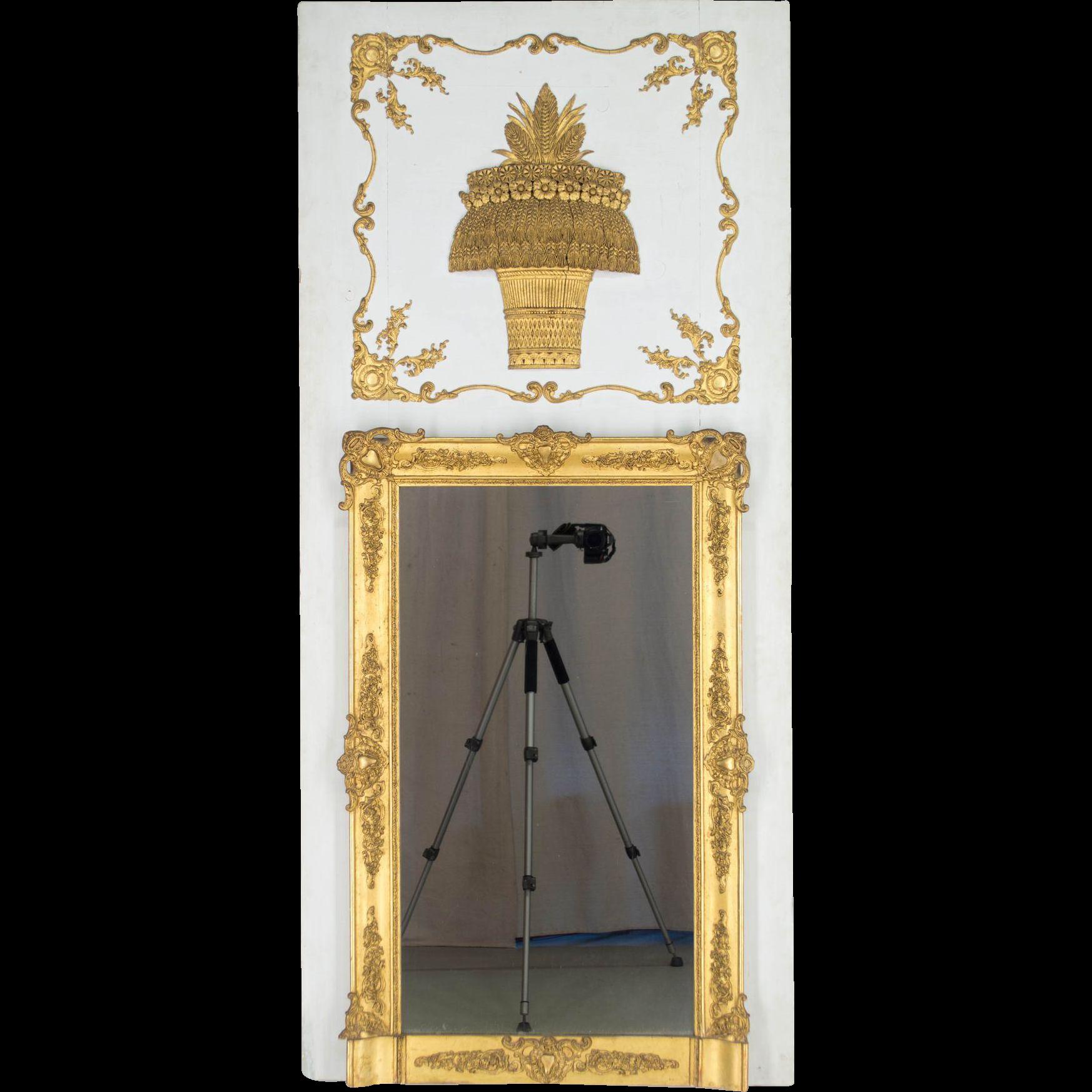 Period Directoire Trumeau or Mirror
