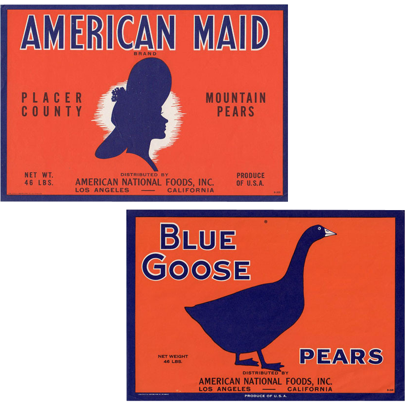 Old, Fruit Crate Labels for Apples - Great Graphics